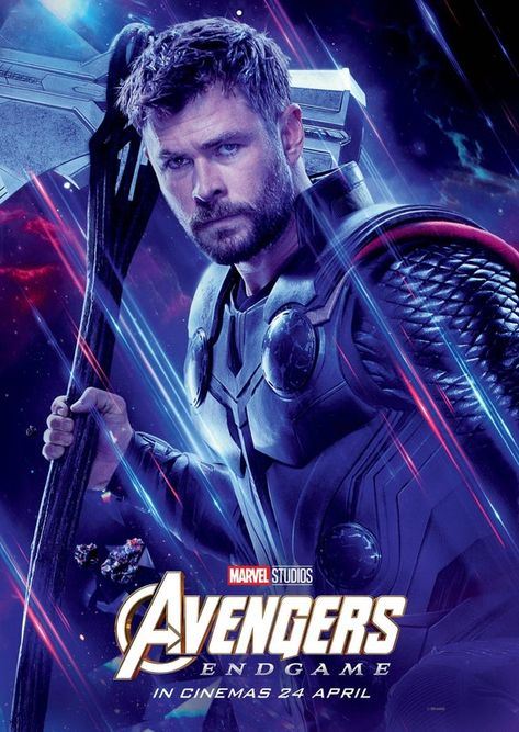 Avengers: Endgame 2019 Character Poster Thor International poster Marvel comic movie quality print Avengers 4