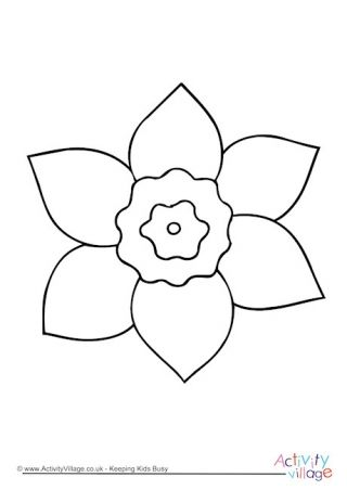 Daffodil Colouring Page 4 Coloring Pages Floral Illustrations Daffodils