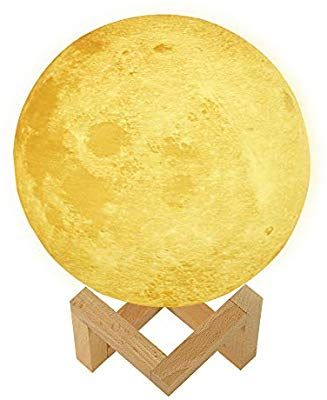 Amazon Com Moon Lamp Prekiar 16 Colors 5 9inch Led 3d Print Moon Light With Stand Remote Touch Control And Usb Birthday Party Gift Night Light Kids Room