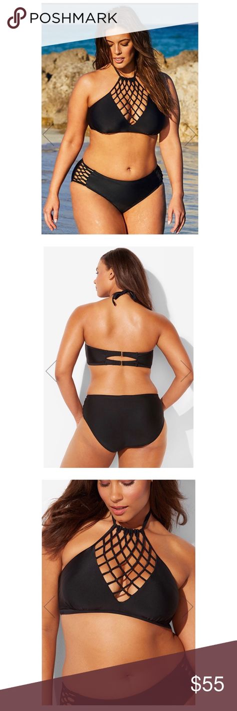 a523a51b894 SWIMSUITS FOR ALL BLACK BIKINI 16/18 NWT ASHLEY GRAHAM X SWIMSUITS FOR ALL  LEADER