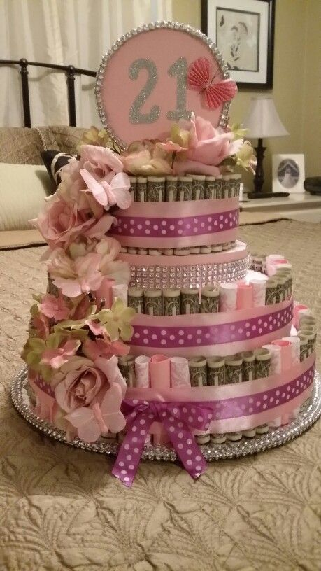 Money Birthday Cake Made This Cake Out Of  One Dollar Bills - Money birthday cake images