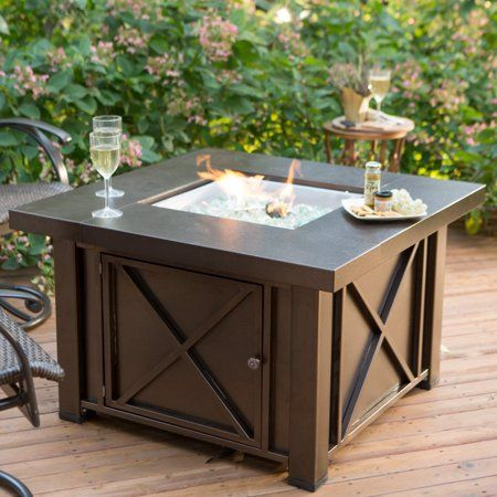 Hiland Decorative Fire Pit Hammered Bronze Finish Walmart Com Fire Pit Coffee Table Gas Fire Pit Table Fire Pit Table