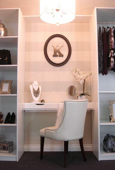 Belle Maison: Recent Project: Closet Set Design (AFTER PHOTOS!)   Decor  Ideas   Pinterest   Closet Vanity, Vanities And Desks