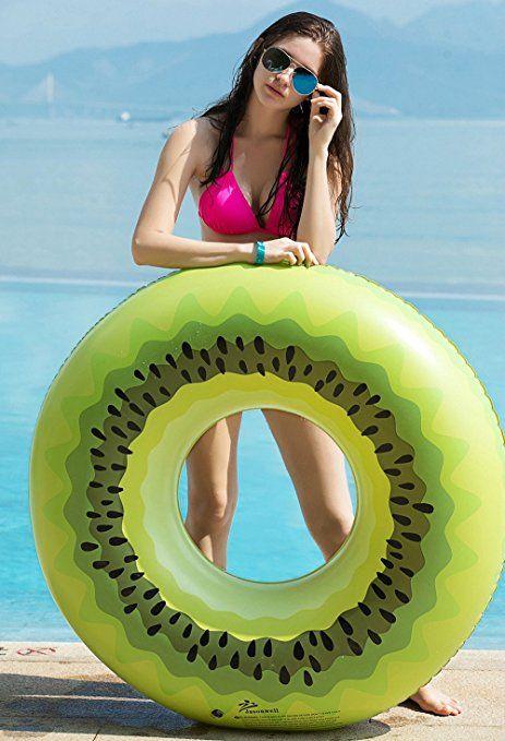 Jasonwell Giant Kiwi Pool Party Float 45 Inch Inflatable Pool