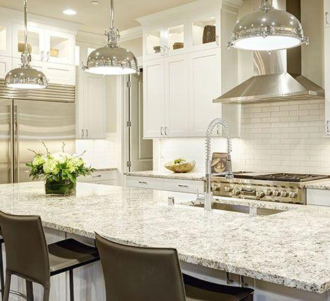 411 On Granite And Quartz Countertops Countertop Design Custom Kitchens White Kitchen Design