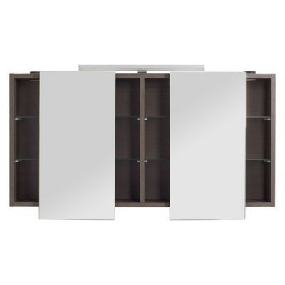 Armoire Miroir Decor Chene Fume Cooke Lewis Calao 120 Cm Armoire Armoire De Toilette Armoire Chambre