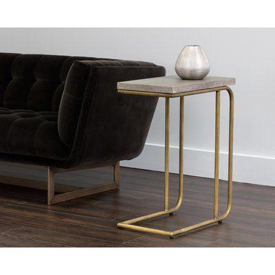 Orren Ellis Pettis C Shaped End Table Contemporary End Tables End Tables Marble End Tables