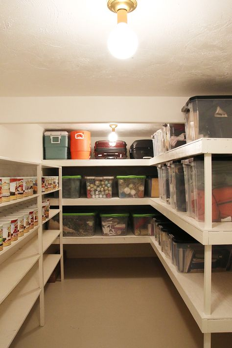 How we finally organized our storage room!How we finally organized our storage room! - Chris loves best of the best basement laundry room design ideasTrolleys between clever unfinished basement ideas on a budget Storage Room Organization, Attic Storage, Laundry Room Storage, Living Room Storage, Storage Room Ideas, Basement Storage Shelves, Garage Storage, Craft Storage, Organization Ideas