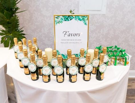 Tropical Greenery, Marble and Gold Baby Shower – Pop It When She Pops