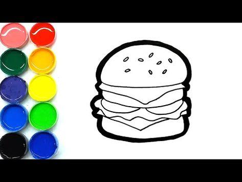 Cara Menggambar Burger Krabby Patty Enak Mudah Untuk Anak Anak Di