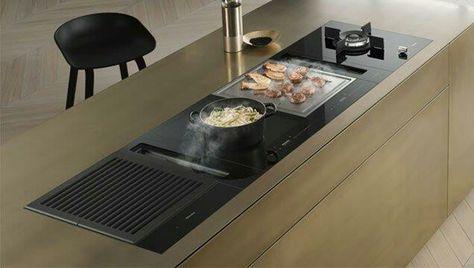 Miele Smart Line kookplaat met grill, afzuiging, kookplaat - nobilia küchen zubehör