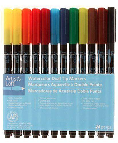 Artist S Loft Watercolor Dual Tip Markers 24 Pc Artists Loft Https