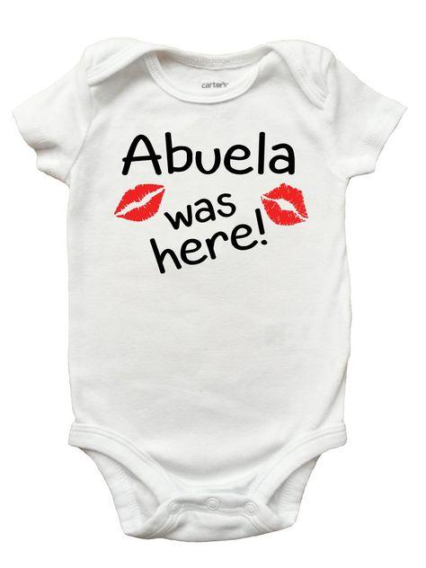 0ea69825 Grandma Was Here Shirt, Mothers Day Shirt and Romper for Girls, Abuela,  Grandma