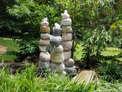Garden Rock Fountain Rock Fountain Landscaping With Fountains Water Features In The Garden