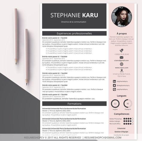 4 Cv Curriculum Vitae Professionnel Moderne Et Graphique