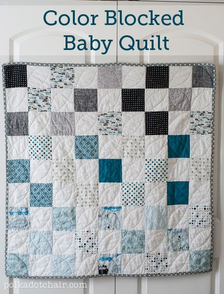Color Blocked Baby Quilt patterns, free pattern @ Polka Dot Chair ... : easy baby blanket quilt patterns - Adamdwight.com