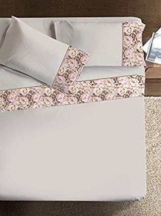 Ipersan Bettwasche Set Armonie Rose Farbe Beige 260x290cm