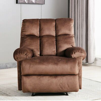 Advertisement Manual Recliner Chair Armrest Gaming Seat Soft Fabric Sofa Living Room Furniture Manual Recliner Chair Recliner Chair Living Room Sofa
