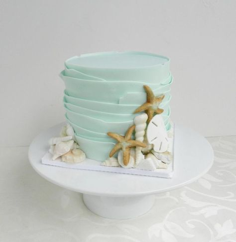 Wedding Cakes Small, simple, perfect for small beach wedding. Rustic beach wedding cake by Cake Whisperer
