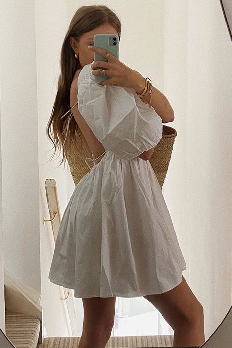 Summer Outfits, Casual Outfits, Summer Dresses, White Dress Summer, Mode Ootd, Smock Dress, Mode Outfits, Boho, Aesthetic Clothes