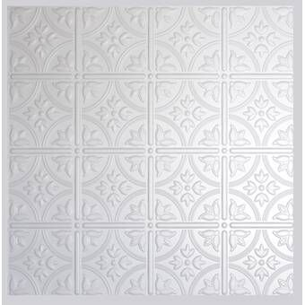 Antique 2 Ft X 2 Ft Drop In Or Grid Mount Ceiling Tile In White Tin Drop Ceiling Tiles Tin Ceiling Tin Ceiling Tiles