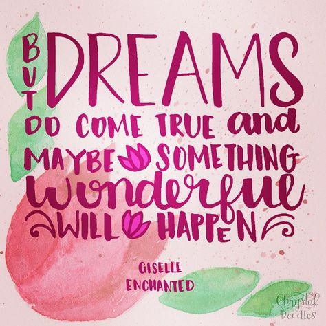 "Day 50 100 [Half Way ] Enchanted Quote ""But dreams do e"