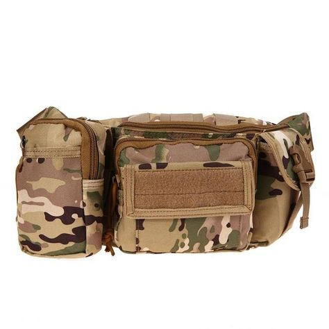 Outdoor Military Tactical Waist Pack 3L Waterproof Oxford Molle Camping Hiking
