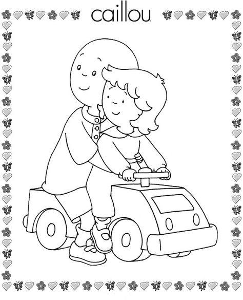 caillou 9 dibujos faciles para dibujar para niños