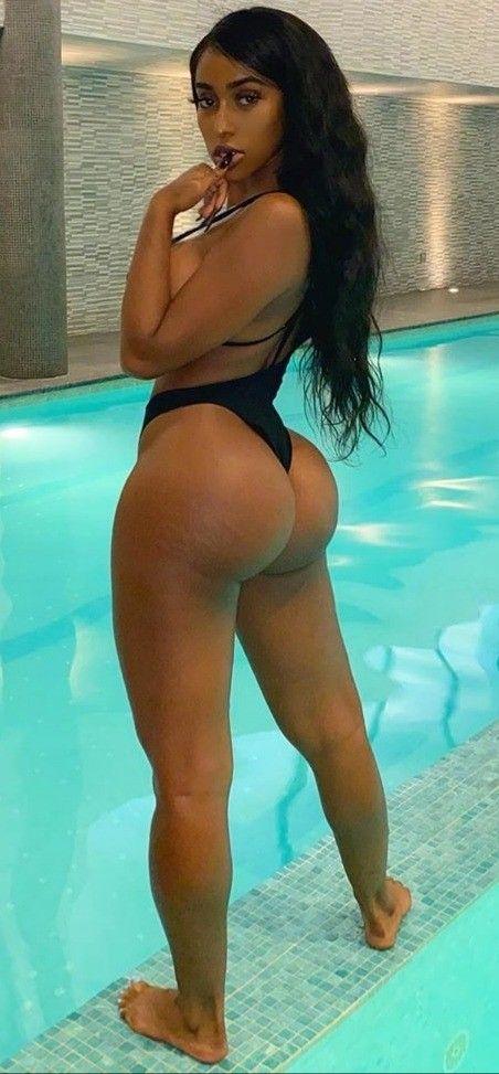 Black booty blue thong