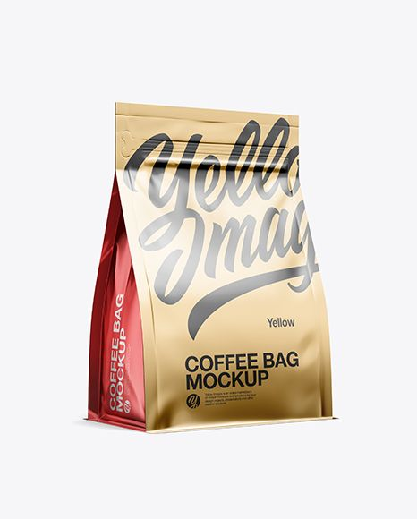 Download Metallic Coffee Bag Mockup Half Side View In Bag Sack Mockups On Yellow Images Object Mockups Mockup Free Psd Bag Mockup Mockup