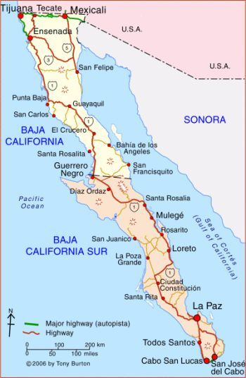 San Carlos Sonora Mexico Map.Map Of Sonora Mexico Officially Named The Free And Sovereign State