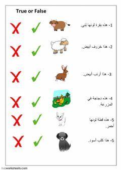 Farm Animals Language Arabic Level Group Grade 2 School Subject Arabic Language Main Co In 2020 Alphabet Preschool Kindergarten Reading Activities Arabic Worksheets