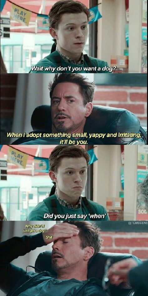 Peter needs a dad... Tony needs a son... *GASP* It's a match made in heaven!