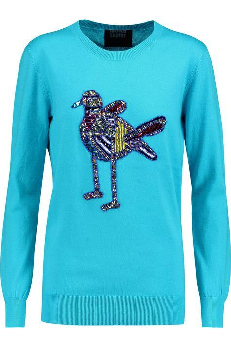6e334aa932f Маркус LupferNatalie украшен свитер хлопка
