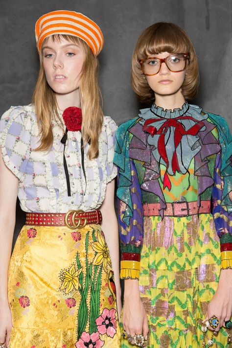 Gucci at Milan Spring 2016 (Backstage) I have been feelin Gucci lately