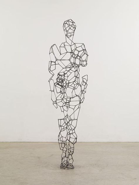 Art Sculpture of Geometric Human Body Shapes by Antony Gormley