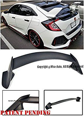 Must Have Spoiler Amazon Com Type R Style Abs Plastic Rear Trunk Lid Wing Spoiler Lip For 16 Up Honda Civic Honda Civic Accessories Civic Hatchback