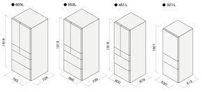 冷蔵庫の寸法図 冷蔵庫 サイズ 冷蔵庫 奥行き 家の設計