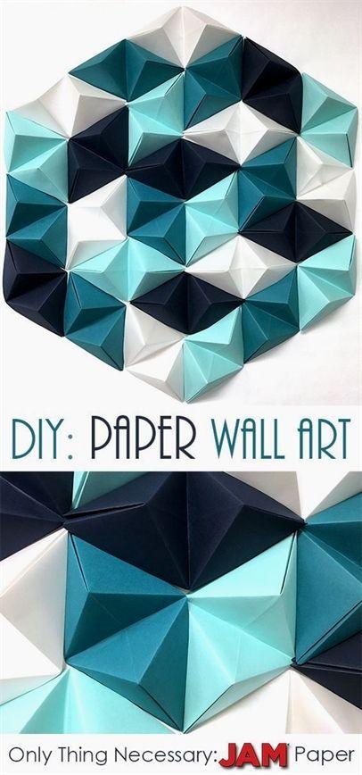 DIY: Geometric Paper Wall Art -