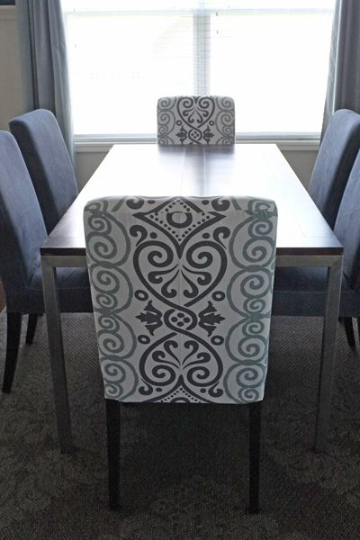 Diy Dining Chair Slipcovers From A Tablecloth Middle And Fabrics