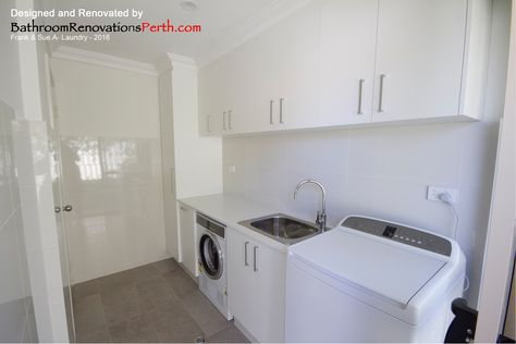 2016 Laundry Designed and Renovated by Bathroom Renovations Perth  https://www.facebook.com/bathroomrenovationperth