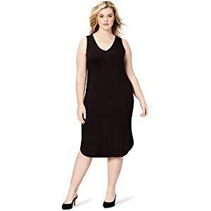 Daily Ritual Womens Jersey Long-Sleeve Scoop-Neck T-Shirt Dress Brand