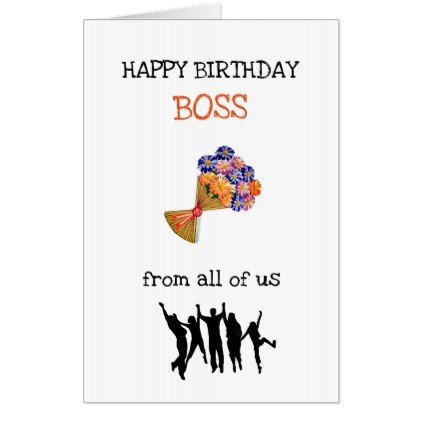 Large Happy Birthday Boss Design Card Zazzle Com Happy