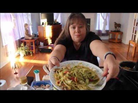 Eat With Me, Muk bang, Dinner, Vegetarian Pesto with Noodles 먹방