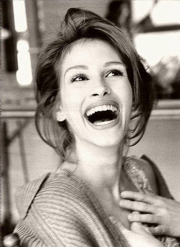 Julia Roberts - she always looks so happy. Not to forget pretty woman, stepmom, and eat pray love!