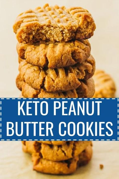 How to make low carb peanut butter cookies, homemade from scratch. 3 ingredients / almond flour / easy / no bake / keto / sugar free / best / flourless / swerve / chewy / protein / fat bombs / soft / food / dreams / dessert recipes / treats / holidays / p Keto Cookies, Almond Flour Cookies, Keto Peanut Butter Cookies, Low Carb Peanut Butter, Homemade Cookies, Low Carb Peanutbutter Cookies, Almond Butter Fat Bombs, Sugar Free Cookies, Keto Chocolate Chip Cookies