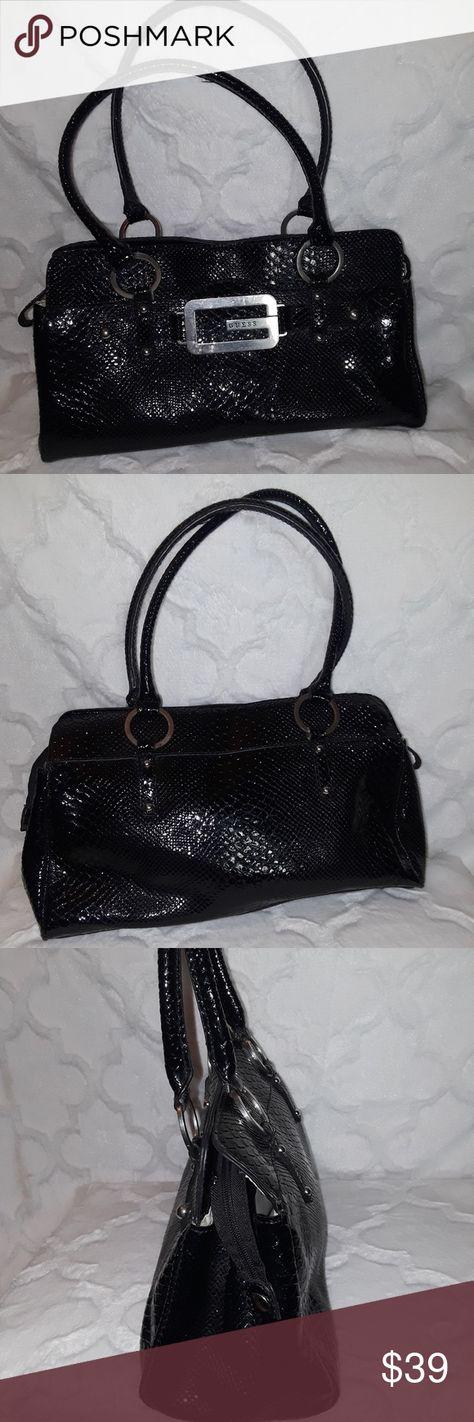 cb36aefaa36 Guess Handbag Black Beautiful Black Guess Handbag Textured Purse with cream  interior Zipper close, 3