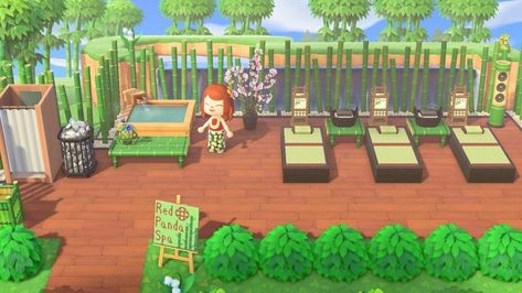 Need a little luxury in quarantine? Welcome to Red Panda Spa! Animal Crossing 3ds, Animal Crossing Wild World, Animal Crossing Villagers, Animal Crossing Qr Codes Clothes, Animal Crossing Pocket Camp, Garden Animals, Farm Animals, Les Reptiles, Reptiles Preschool