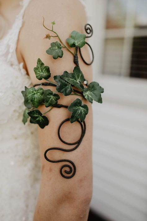 """Thanks for the kind words! ★★★★★ """"So beautiful and well made! Can't wait to wear it 😍"""" Juliet Couple Halloween Costumes For Adults, Couple Costumes, Disney Costumes, Adult Costumes, Fairy Halloween Costumes, Woman Costumes, Arm Cuff Tattoo, Ivy Tattoo, Forest Fairy Costume"""