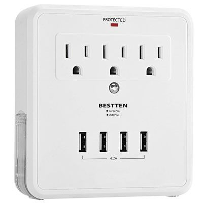 6 Bestten Multi Outlet Usb Wall Mount Protector Adapter Expensive Gadgets Phone Charger
